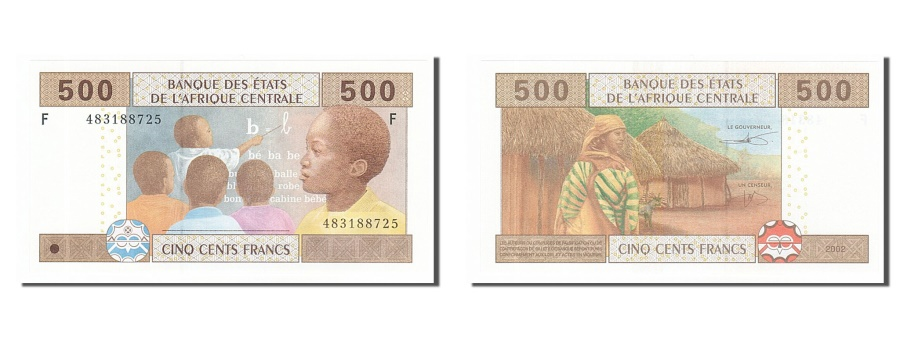 World Coins - Central African States, 500 Francs, 2002, KM #506F, UNC(65-70), 483188725