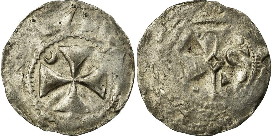 World Coins - Coin, France, Picardie, Anonymous, Denarius, Amiens, , Silver