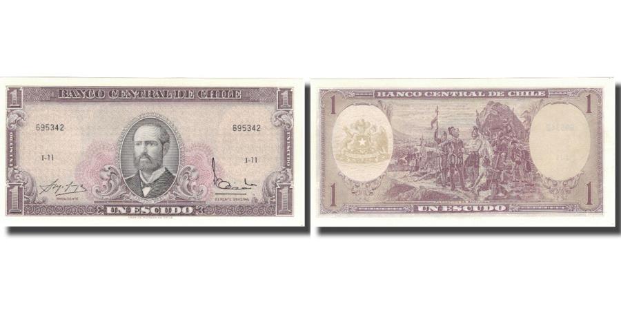 World Coins - Banknote, Chile, 1 Escudo, KM:135Aa, UNC(65-70)