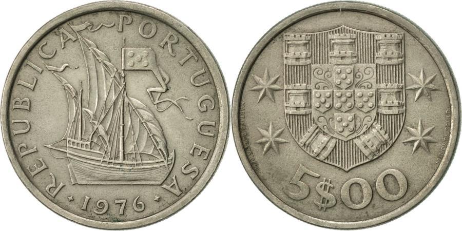 World Coins - Portugal, 5 Escudos, 1976, , Copper-nickel, KM:591