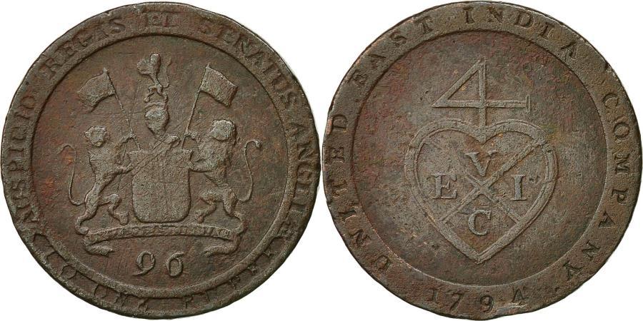 World Coins - Coin, INDIA-BRITISH, Madras Presidency, 1/96 Rupee, 1794, KM 392