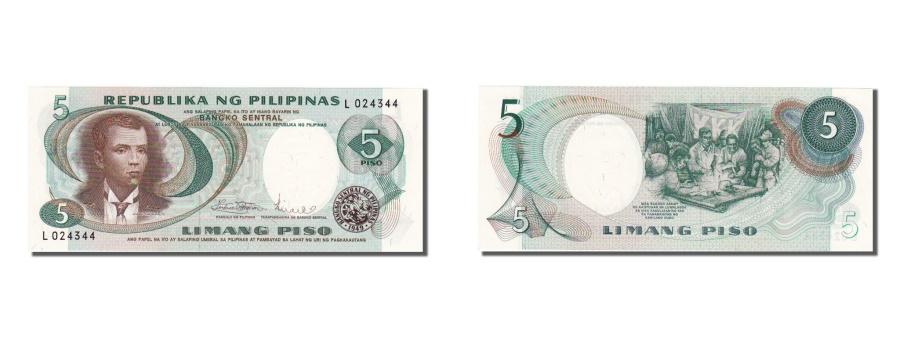 World Coins - Philippines, 5 Piso, 1969, KM #143b, UNC(65-70), L024344