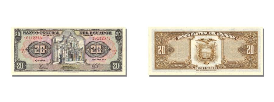 World Coins - Ecuador, 20 Sucres, 1983, KM #115b, 1983-04-20, UNC(65-70), LI