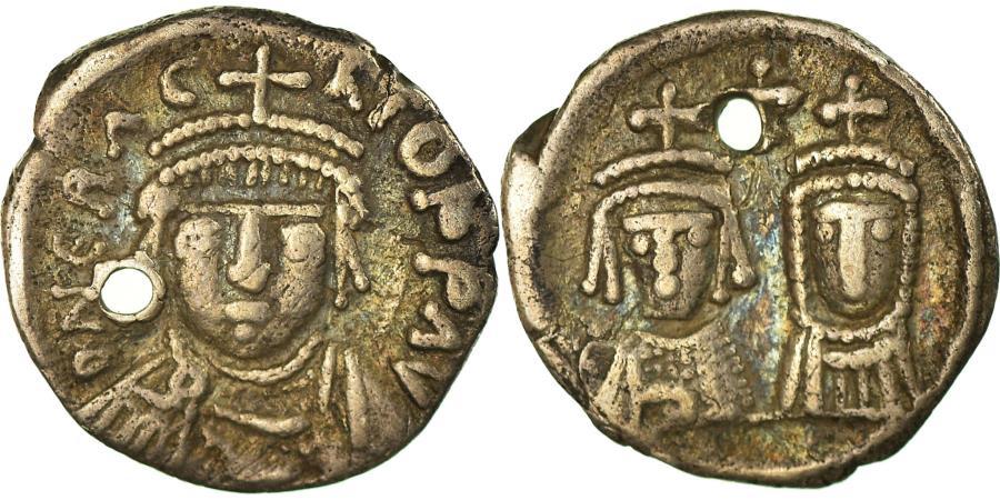 Ancient Coins - Coin, Heraclius, with Martina and Heraclius Constantine, Half Siliqua, 610-641