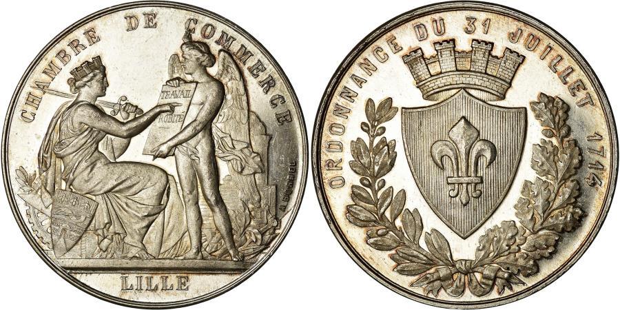 World Coins - France, Token, Chambre de Commerce de Lille, Borrel.A, , Silver