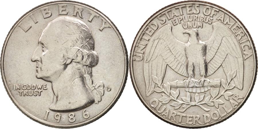US Coins - United States, Washington Quarter, Quarter, 1986, U.S. Mint, Denver,