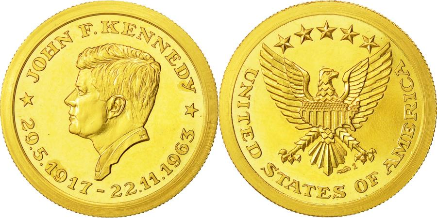 US Coins - United States, Medal, John Fidgerald Kennedy, History, , Gold
