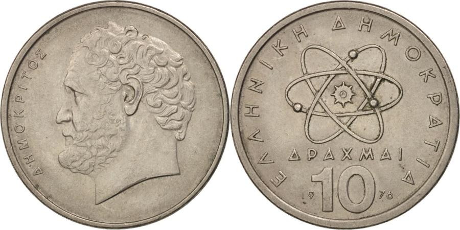 World Coins - Greece, 10 Drachmai, 1976, , Copper-nickel, KM:119