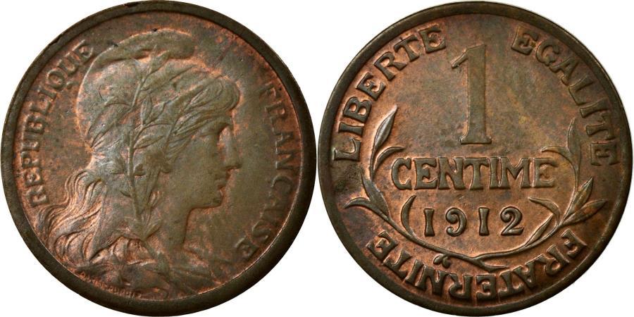World Coins - Coin, France, Dupuis, Centime, 1912, Paris, AU(55-58), Bronze, KM:840