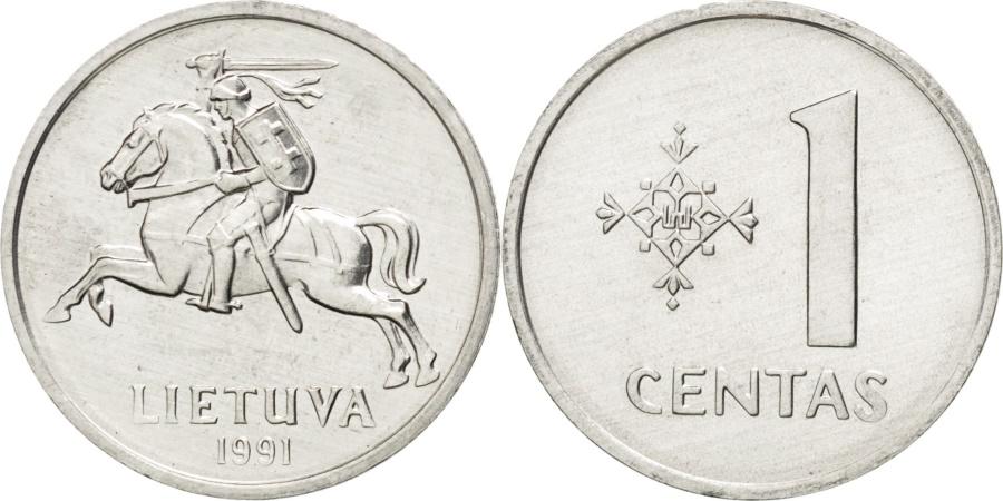 World Coins - LITHUANIA, Centas, 1991, KM #85, , Aluminum, 18.75, 0.87