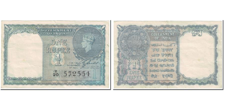 World Coins - Banknote, India, 1 Rupee, 1940, Undated (1940), KM:25a, EF(40-45)