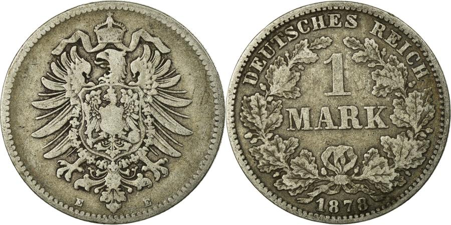 World Coins - Coin, GERMANY - EMPIRE, Wilhelm I, Mark, 1878, Dresden, , Silver, KM:7