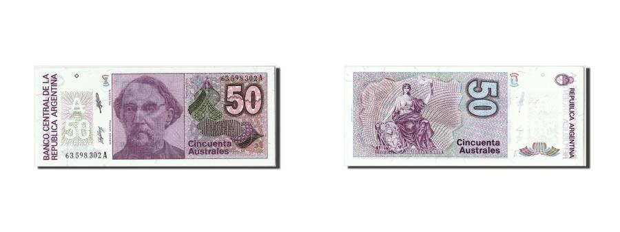 World Coins - Argentina, 50 Australes, KM #326b, UNC(65-70), 63598302A