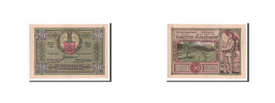 World Coins - Germany, Kunzendorf, 50 Pfennig, personnage, 1922-03-01, UNC(65-70), Mehl:750.1a