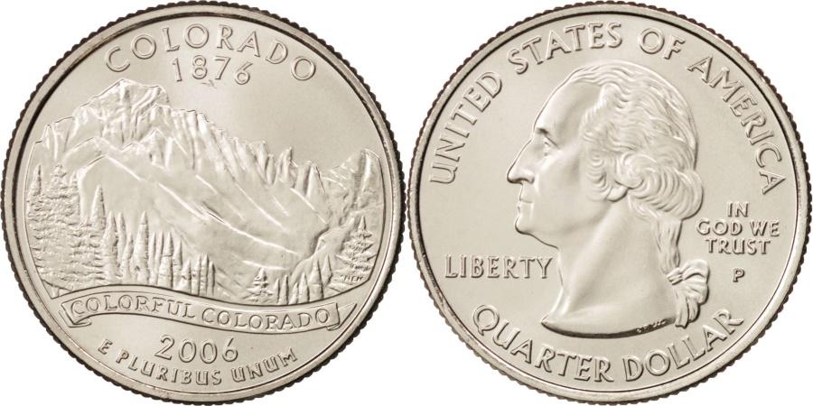 US Coins - United States, Quarter, Colorado, 2006, Philadelphia, , KM:384