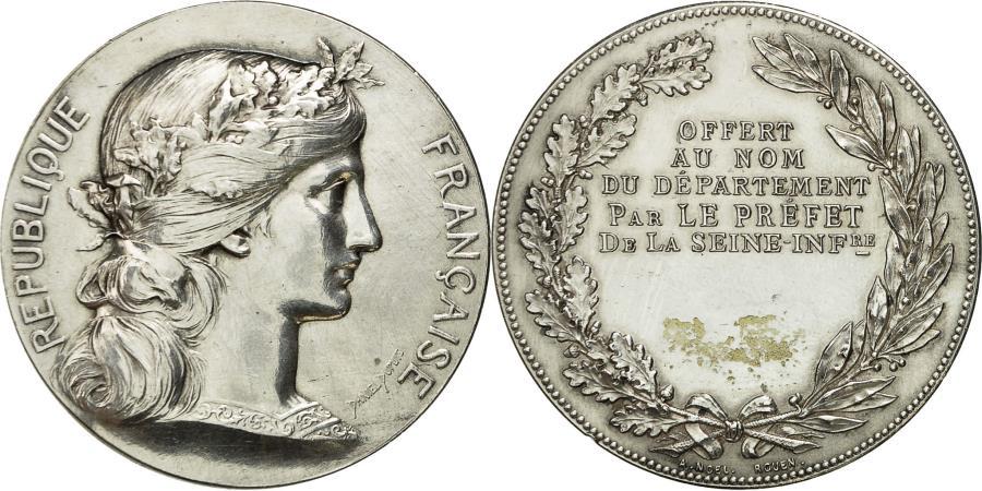 World Coins - France, Medal, Marianne, Préfet de la Seine Inférieure, Dupuis.D,