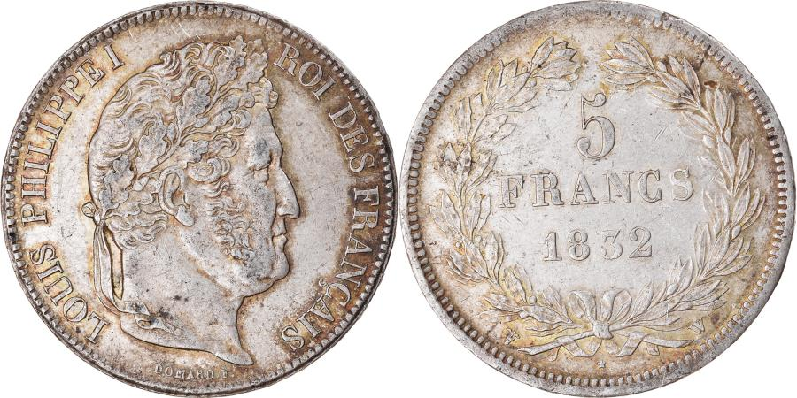 World Coins - Coin, France, Louis-Philippe, 5 Francs, 1832, Lille, , Silver