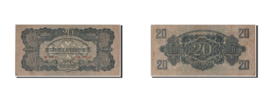 World Coins - Hungary, 20 Pengö, 1944, KM #M6b, EF(40-45), BC