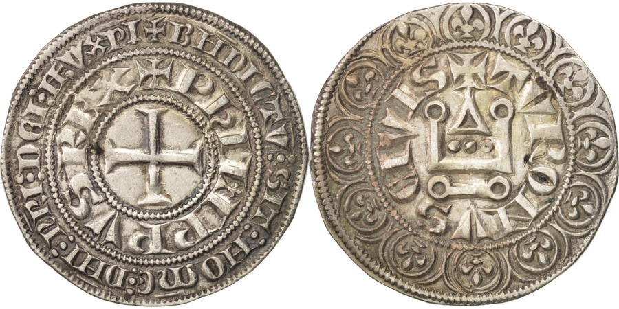 World Coins - France, Philippe IV, Gros Tournois, , Silver, Duplessy:214