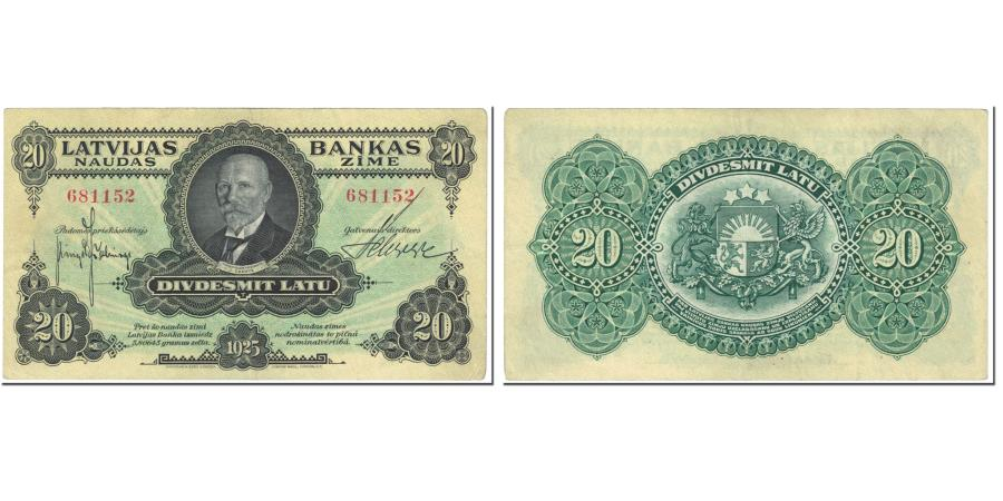 World Coins - Banknote, Latvia, 20 Latu, 1925, Undated (1925), KM:17a, EF(40-45)