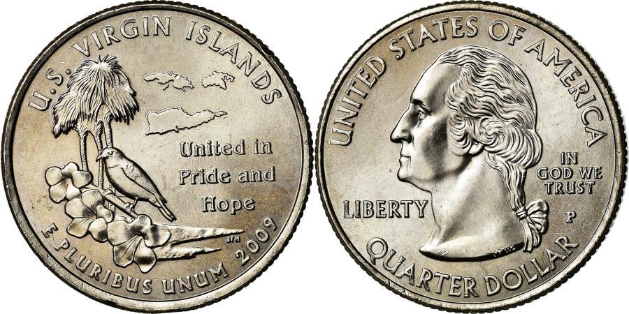 US Coins - Coin, United States, U.S Virgin Islands, Quarter, 2009, U.S. Mint, Philadelphia