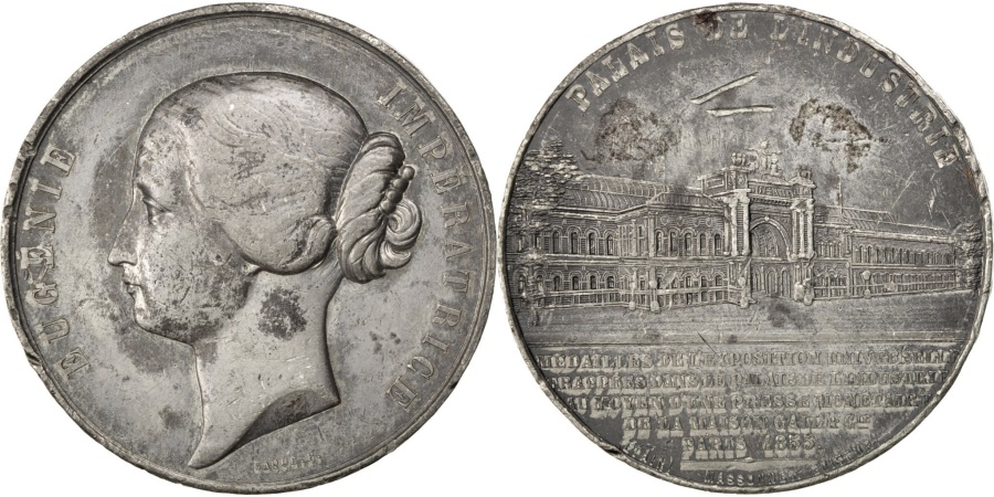 World Coins - FRANCE, Sciences & Technologies, Second French Empire, Medal, 1855, ,..