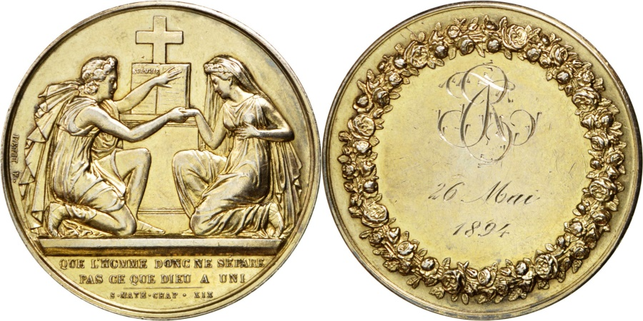 World Coins - FRANCE, Religions & beliefs, French Third Republic, Medal, , Petit,...