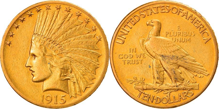 US Coins - Coin, United States, Indian Head, $10, Eagle, 1915, Philadelphia,