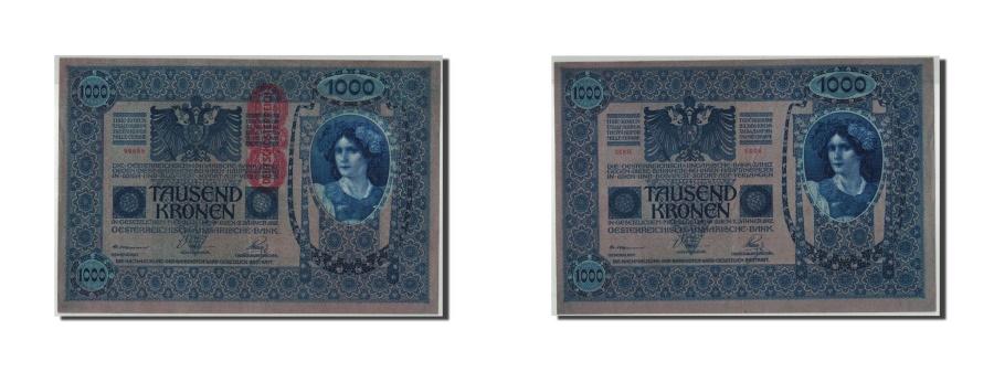 World Coins - Austria, 1000 Kronen, Undated (1919), KM:59, 1922-01-02, AU(55-58)