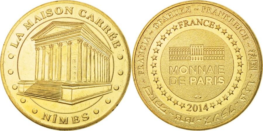 World Coins - France, Tourist Token, 30/ La Maison Carrée - Nîmes, 2014, Monnaie de Paris