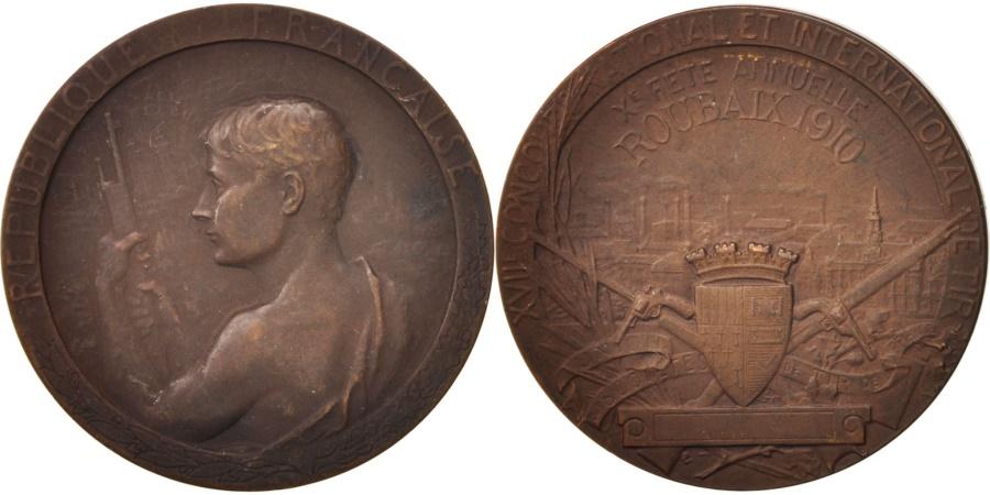 World Coins - France, Medal, Roubaix, XVIIe Concours national et international de tir, Sports