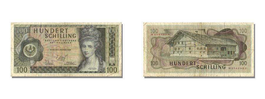 World Coins - Austria, 100 Schilling, 1969, KM #145a, 1969-01-02, EF(40-45), M