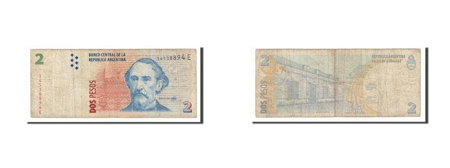 World Coins - Argentina, 2 Pesos, 2002, KM #352, F(12-15), 14538894E