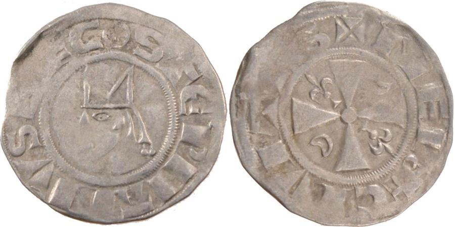 World Coins - FRANCE, Denarius, Meaux, , Silver, 1.16