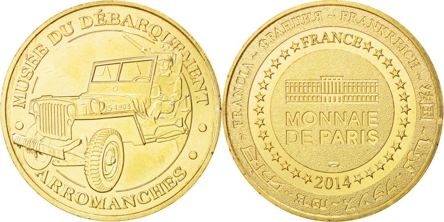 World Coins - France, Tourist Token, 14/ Musée du Débarquement - Arromanches, 2014, MDP