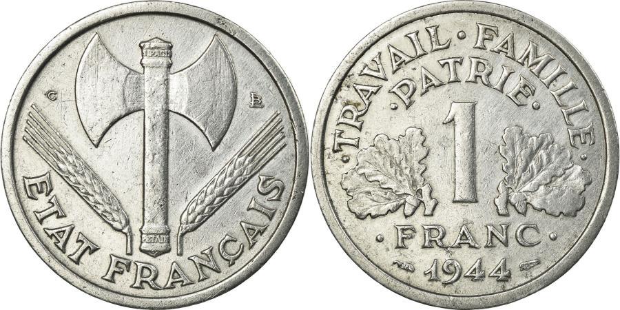 World Coins - Coin, France, Bazor, Franc, 1944, Castelsarrasin, Petit C, , Aluminum