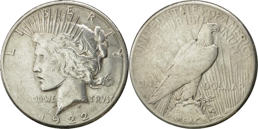 US Coins - Coin, United States, Peace Dollar, 1922, San Francisco, , KM 150