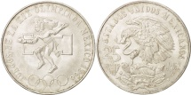 World Coins - Mexico, 25 Pesos, 1968, Mexico City, AU(55-58), Silver, KM:479.1
