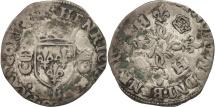 World Coins - France, Douzain aux croissants, Rouen, VF(20-25), Billon, Duplessy:997