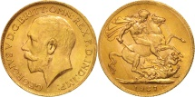 World Coins - South Africa, George V, Sovereign, 1927, MS(60-62), Gold, KM:21