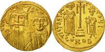 Constans II, Solidus, Constantinople, MS(60-62), Gold, Sear:964