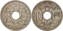 World Coins - France, Lindauer, 10 Centimes, 1917, EF(40-45), Copper-nickel, KM:866a