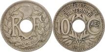 France, Lindauer, 10 Centimes, 1917, EF(40-45), Copper-nickel, KM:866a