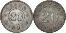 World Coins - Germany, 20 Pfennig, EF(40-45), Zinc