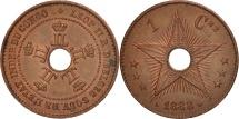 CONGO FREE STATE, Leopold II, Centime, 1888, AU(55-58), Copper, KM:1