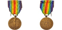 World Coins - Belgium, Interallied Victory Medal 1914-1918, Politics, Society, War, Medal