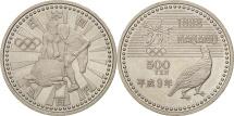 Japan, Akihito, 500 Yen, 1997, MS(63), Copper-nickel, KM:117