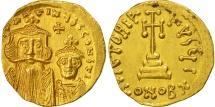 Constans II and Constantine IV, Solidus, Constantinople, AU(55-58), Gold