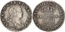 France, Louis XV, 1/6 Écu (XX – S) de France-Navarre, 1719 Paris, KM 440.1