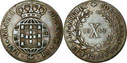 World Coins - Coin, Portugal, Joao, 10 Reis, X; 1/2 Vinten, 1819, Lisbon, , Copper
